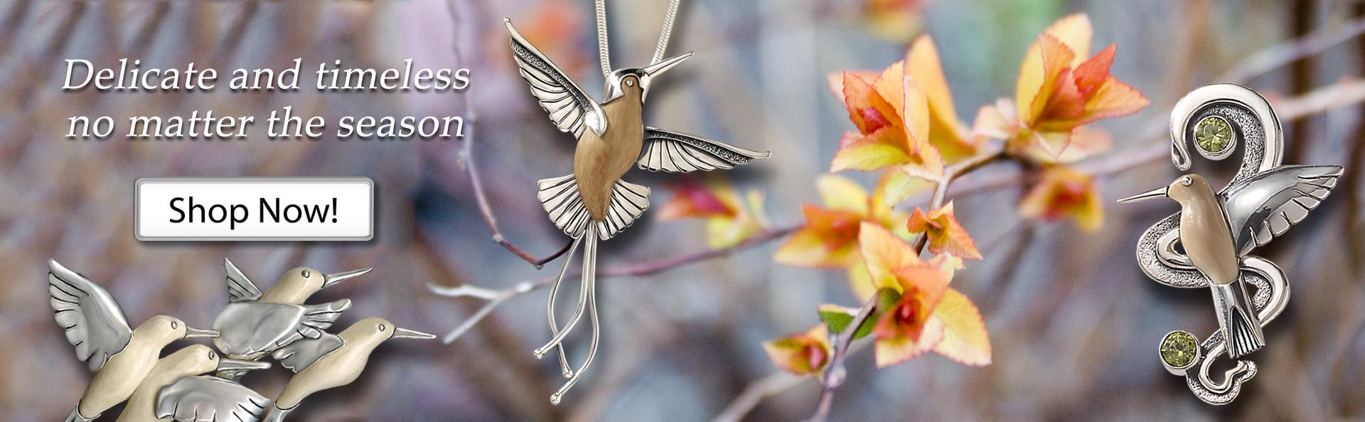 Zealandia silver hummingbird jewelry hummingbird necklace
