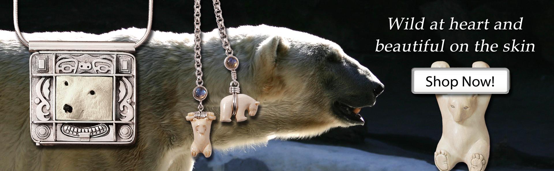 Zealandia silver bear jewelry bear necklace