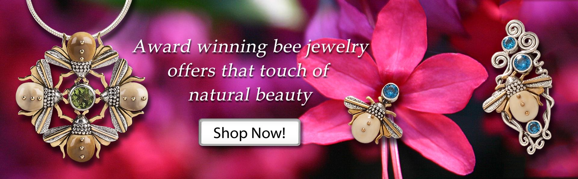 Zealandia silver bee jewelry bee necklace