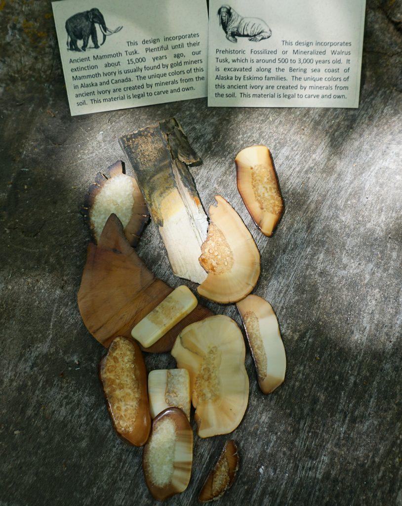 Zealandia Designs fossilized ivory jewelry, mammoth ivory and walrus ivory