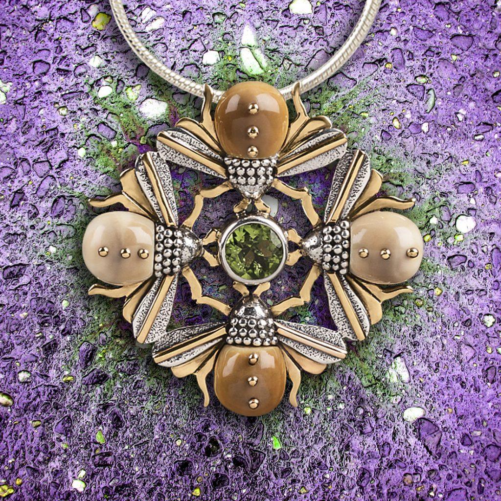 Bee jewelry, bee mandala Zealandia Designs