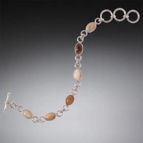 Handmade Mammoth Ivory Bracelet with Toggle - Stepping Stones