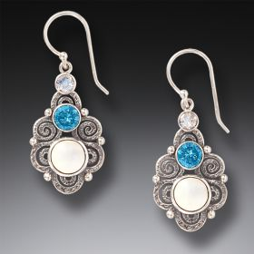 Silver Spiral Earrings - Stardust
