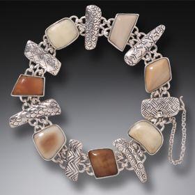 Mammoth Ivory Bracelet in Handmade Silver - Legends