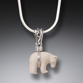 Ancient Ivory Polar Bear Pendant