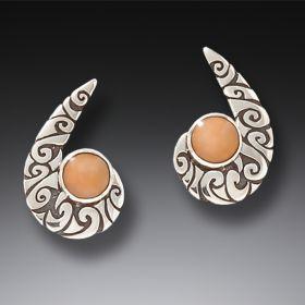 Sterling silver Maori hook earrings