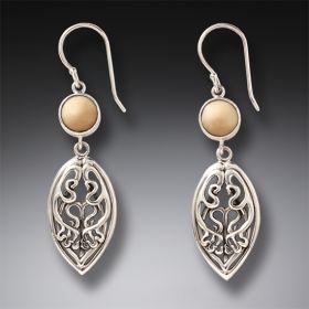 Fossilized walrus earrings - Nouveau Drop