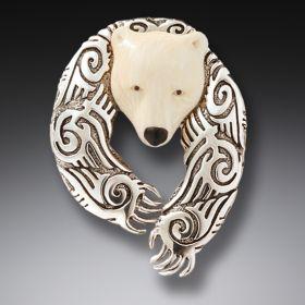 Zealandia sterling silver bear pin bear jewelry