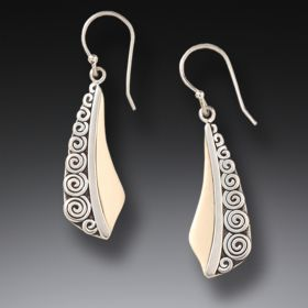 Fossilized Mammoth Ivory Spiral Earrings - Spiral Earrings