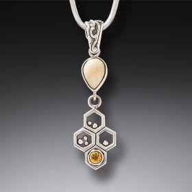 Zealandia honecomb necklace bee jewelry