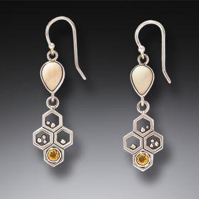 Zealandia bee jewelry bee earrings honeycomb