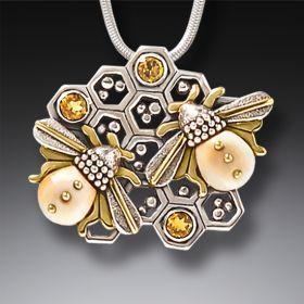 Zealandia bee jewelry bee necklace honey hive