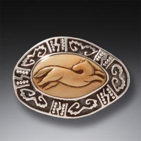 Zealandia horse pin and pendant