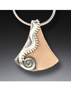 Handmade Silver Fossilized Walrus Tusk Necklace - Life Stream