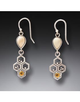 Zealandia bee jewelry bee earrings honeycomb