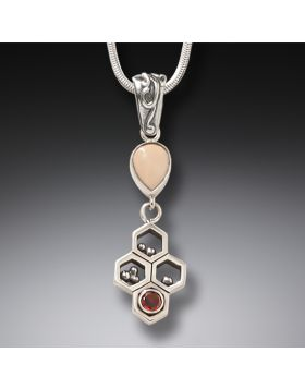 Red Garnet and Ancient Mammoth Ivory Necklace – Honeycomb