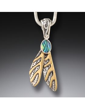 14 kt Gold Fill Dragonfly Wing Pendant - Dragonfly Wings