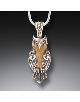Zealandia owl jewelry silver owl necklace