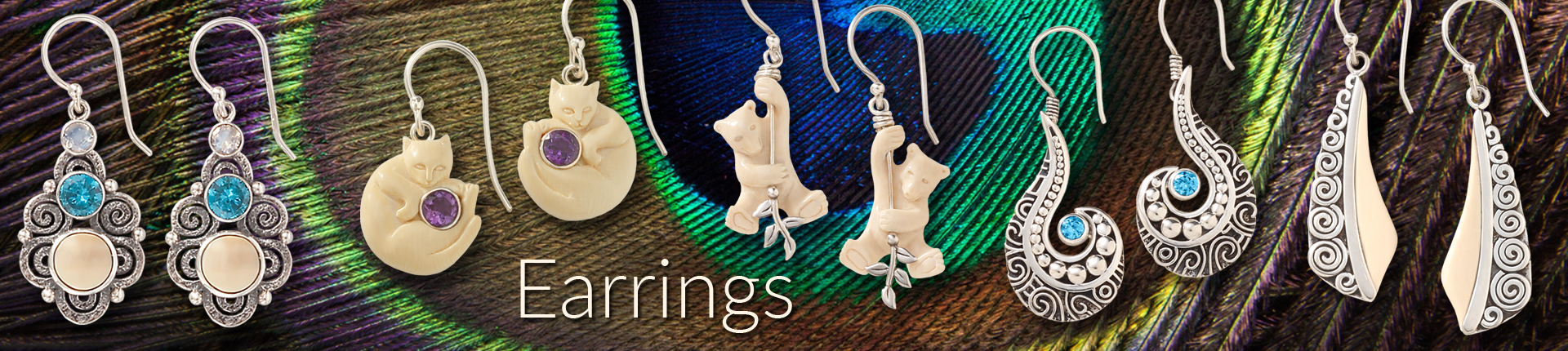 Zealandia fossilized ivory earrings