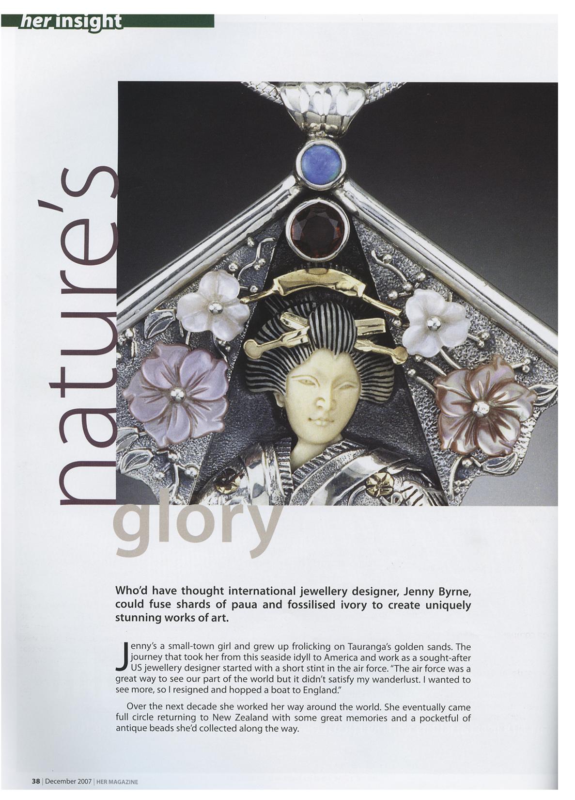 Zealandia jewelry, Jenny Byrne article 1