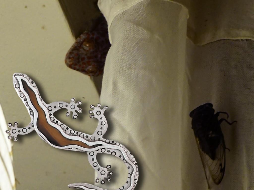 Zealandia silver gecko jewelry