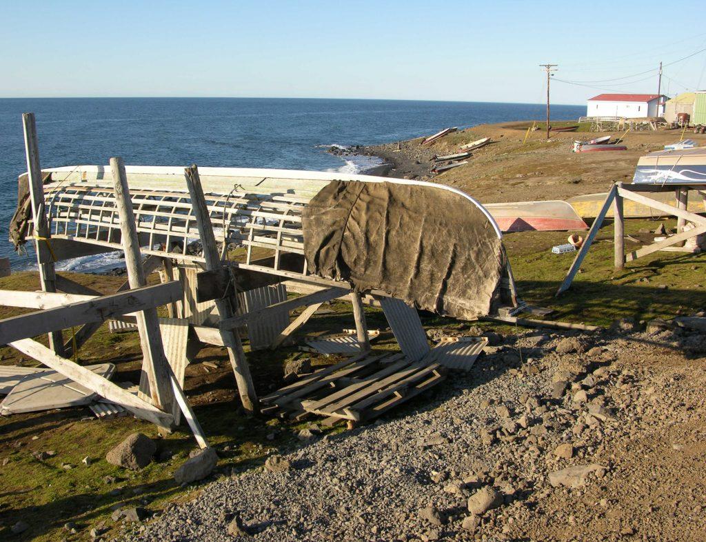 St. Lawrence Island, Alaska Yupik fishing boat
