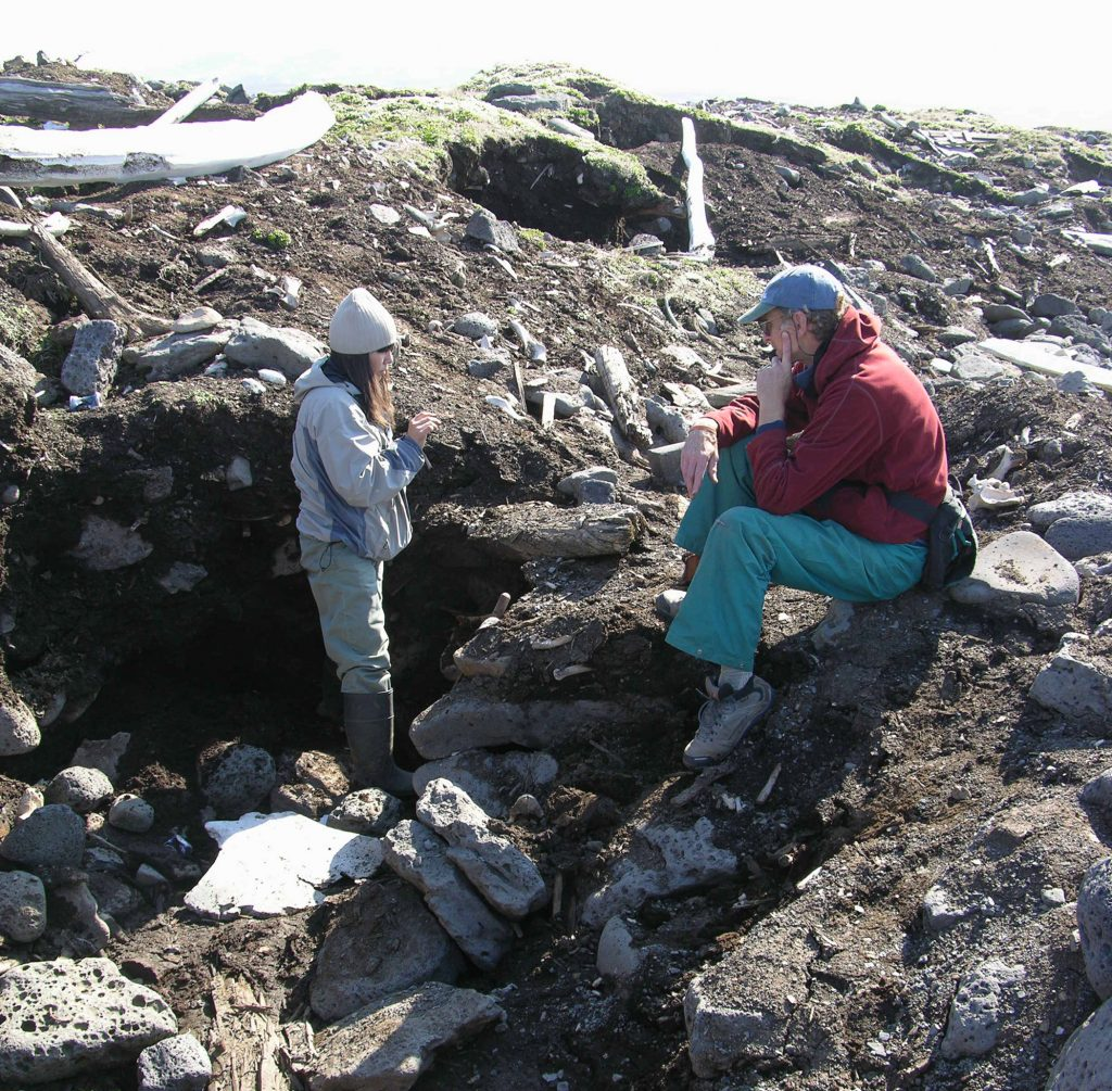 fossilized ivory dig on St. Lawrence Island
