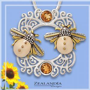 Citrine bee jewelry