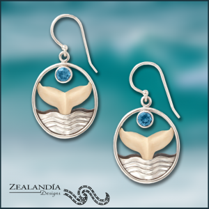 Whale tail earrings whale jewelry
