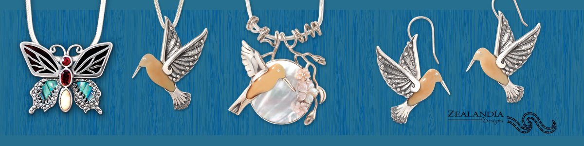 Zealandia pollinator jewelry for National Butterfly and Hummingbird Day